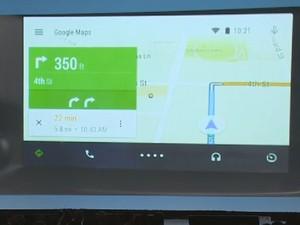 Google Maps fornece mapas com trânsito em tempo real para o motorista que usam o Android Auto (Foto: Reprodução/Google)