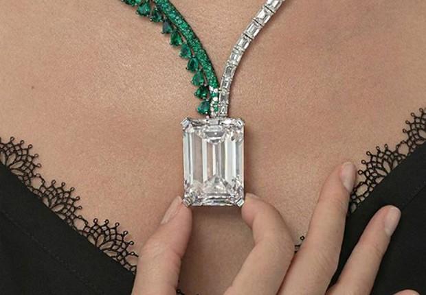 Diamante leiloado em Genebra, na Suíça (Foto: Divulgação)