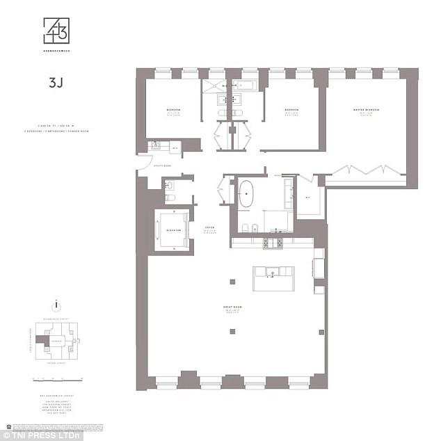 Planta do apartamento de Harry Styles (Foto: Reprodução)
