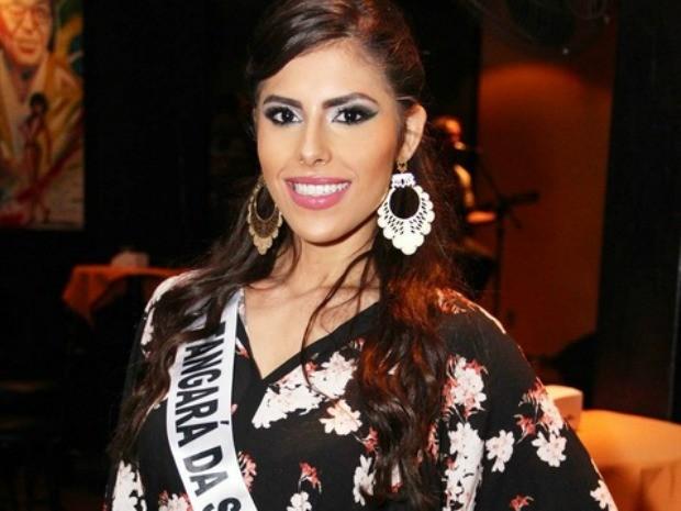 Miss Tangará da Serra, Estella Defant, tem 23 anos, 1,69m de altura e 54 kg (Foto: Divulgação)
