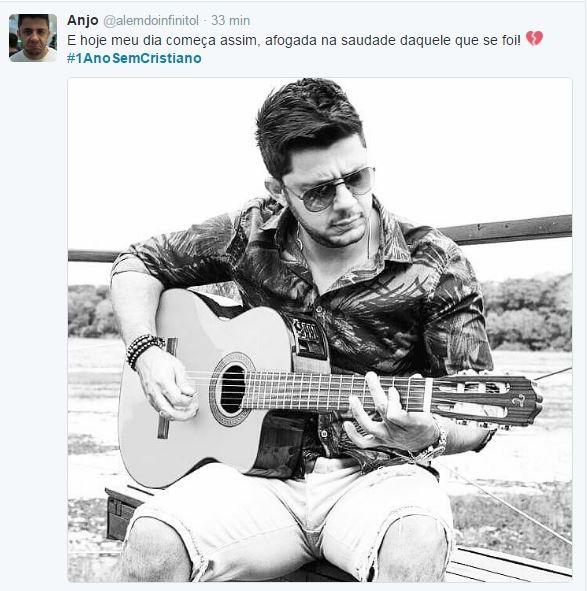 Fãs prestam homenagem a Cristiano Araújo (Foto: Reprodução / Twitter)
