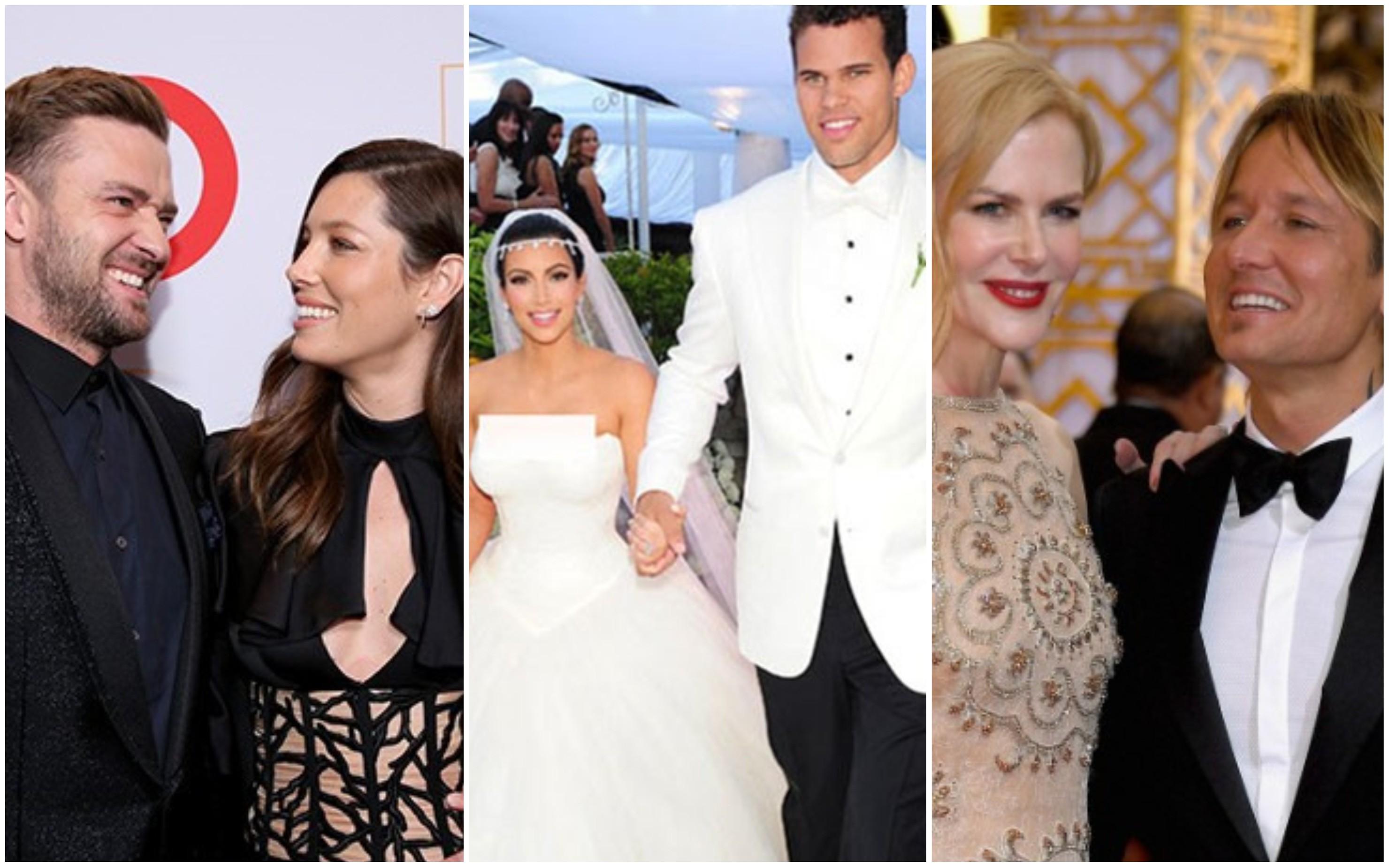 Justin Timberlake e Jessica Biel, Kim Kardashian e Kris Humphries, Nicole KIdman e Keith Urban (Foto: Getty Images)