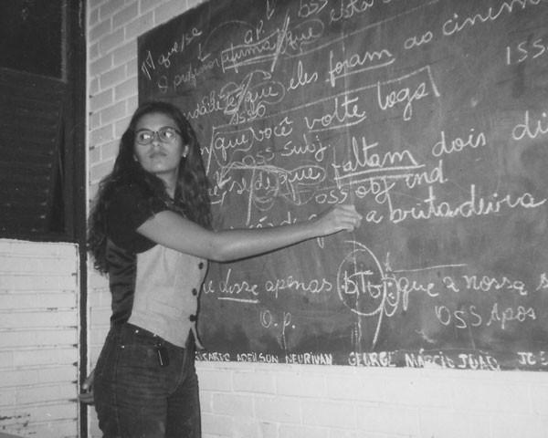 Renata Fagundes durante as aulas (Foto: Arquivo pessoal)