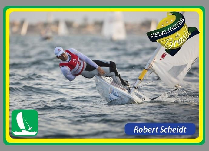 Medalhistas do Brasil card Roberto Scheidt (Foto: Reprodução)