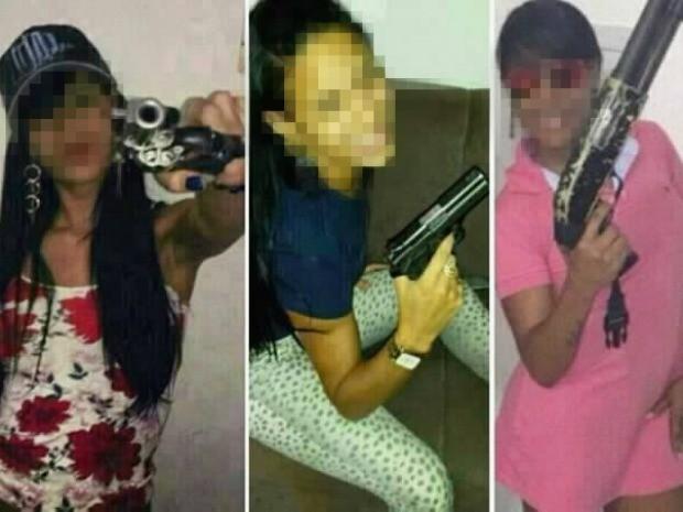 Polícia também procura por mulheres que ostentam armas no perfil do suspeito (Foto: Divulgação/PM)