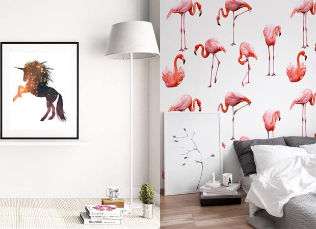 Batalha de tendências: flamingo x unicórnio (Foto: Divulgação)