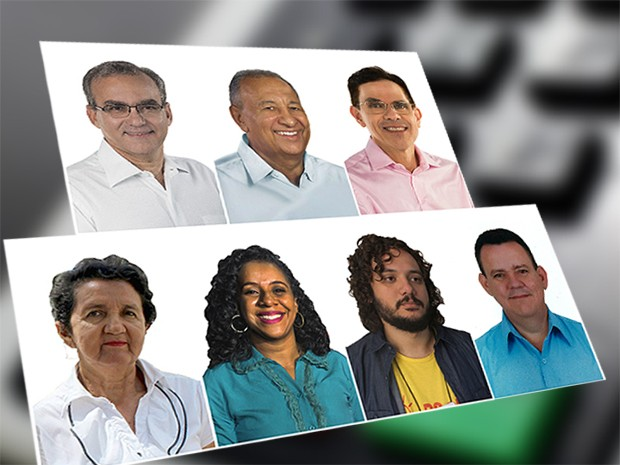 Candidatos a prefeitura de Teresina 2016 - Mosaico sem Francisco (Foto: G1 Piauí)