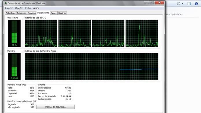 Não sobrecarregue a memória RAM de seu computador utilizando vários aplicativos ao mesmo tempo (Foto: Reprodução/Daniel Ribeiro)