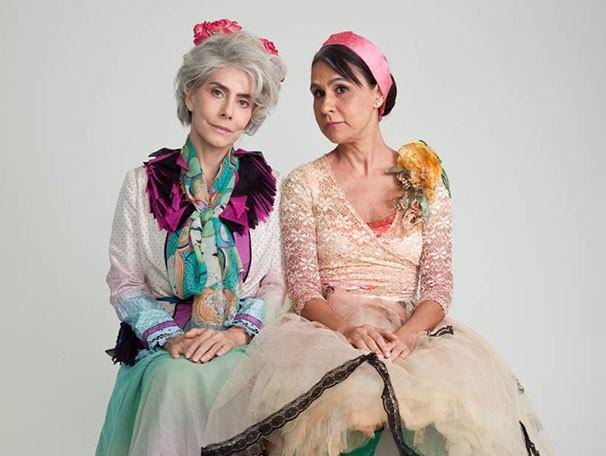 Maitê Proença e Clarisse Derzié Luz interpretam senhoras de 80 anos para falar sobre amizade (Foto: Renata Dillon)