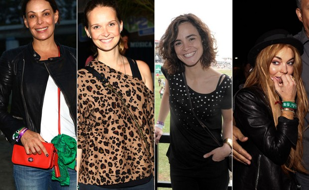 Carolina Ferraz, Fernanda Rodrigues, Alice Braga e Lindsay Lohan (Foto: Francisco Cepeda / AgNews, Iwi Onodera/EGO e Manuela Scarpa/PhotoRio News)