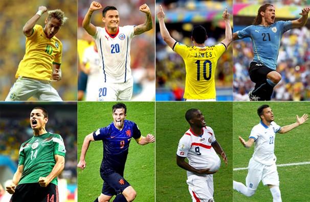 Seleções que se enfrentam nos quatro primeiros jogos das oitavas de final da Copa do Mundo (Foto: globoesporte.com)