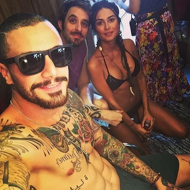 Felipe Tito, Rafinha Bastos e Thaila Ayala (Foto: Reprodução/Instagram)