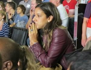 Joanna Maranhão na torcida por Luciano Corrêa (Foto: Gabriele Lomba/Globoesporte.com)