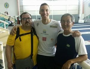 Filippo Lombardo, Athos Schwantes e Mestre Kato (Foto: Reprodução / Facebook)