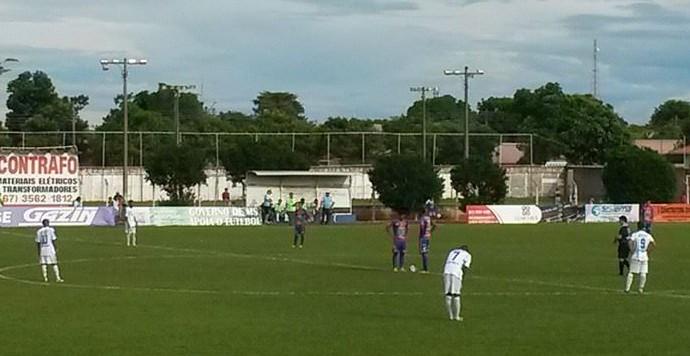 Lance entre Serc e Costa Rica-MS no estádio da Serc (Foto: Divulgação/Costa Rica-MS)