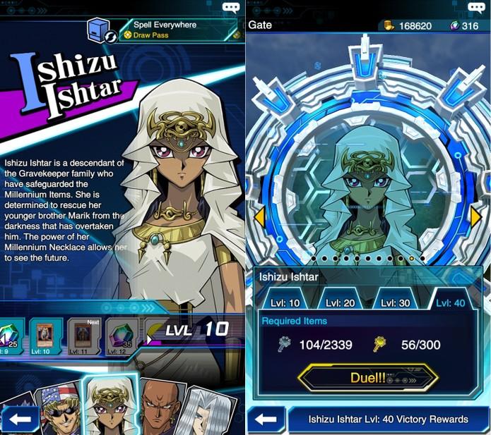 Yu-Gi-Oh! Duel Links: Ishizu Ishtar é liberada após invocar 200 monstros do Atributo Luz (Foto: Reprodução/Vinícius Mathias)