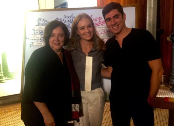 Atualmente, Angélica ao lado de Adnet e da mãe do humorista (Foto: Nathália Gomes/Gshow)