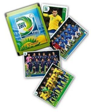 Figurinhas de Fred e da Seleção no álbum da Copa das Confederações (Foto: Divulgação)
