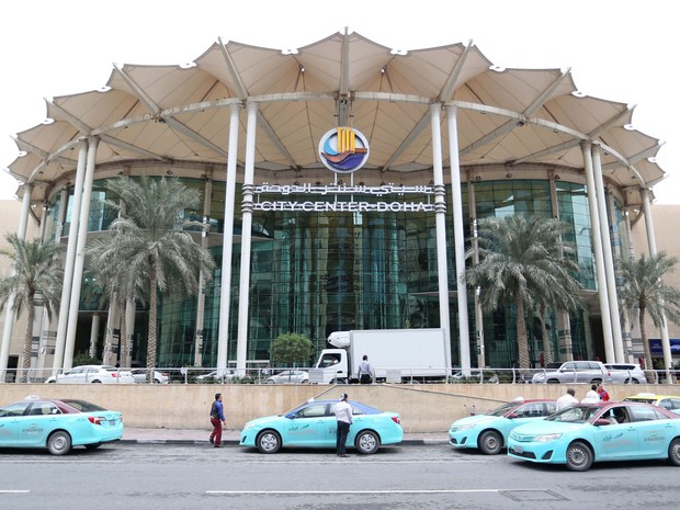 Fachada do Doha City Center, shopping na capital do Qatar, em foto de terça (24) (Foto: AFP Photo/STR)