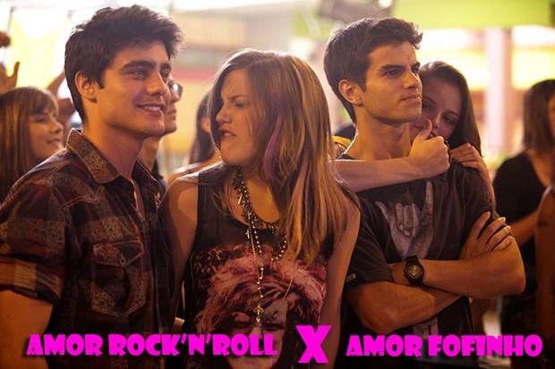 Lia é rock e Ju é romântica! (Foto: Malhação / TV Globo)