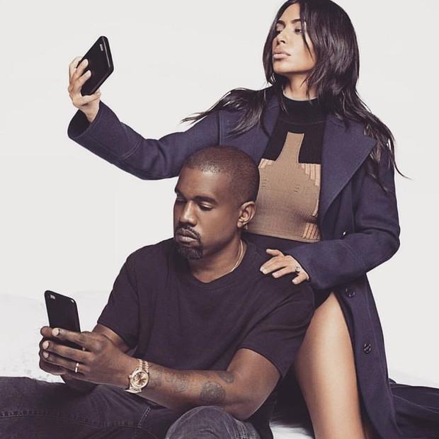 Kim e Kanye: selfie (Foto: Reprodução/Instagram)