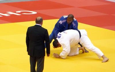 Rafael Silva luta judô Mundial contra Teddy Riner (Foto: Raphael Andriolo)