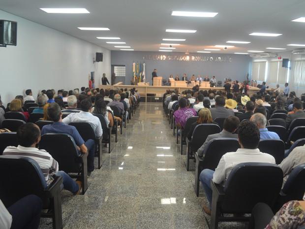 Diplomação dos eleitos em Cacoal ocorreu na última terça-feira (29) (Foto: Rogério Aderbal/G1)