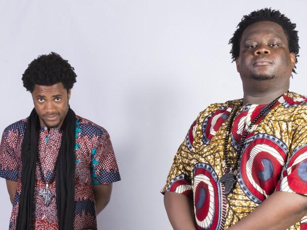 Izy Mistura e Opai Bigbig, integrantes do duo Dois Africanos (Foto: Leonardo Accioly/Divulgação)