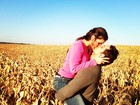 Kamilla e Eliéser posam apaixonados: 'Colhi um love'