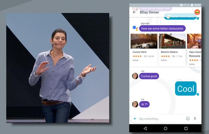 Allo: mensageiro vai ter integração com Google Assistant (Foto: Reprodução/Google)