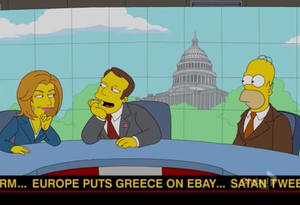 Simpsons previu também a crise na Grécia (Foto: Reprodução/Twitter)