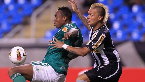 Obina Palmeiras e Fabio Ferreira Botafogo (Foto: EFE)