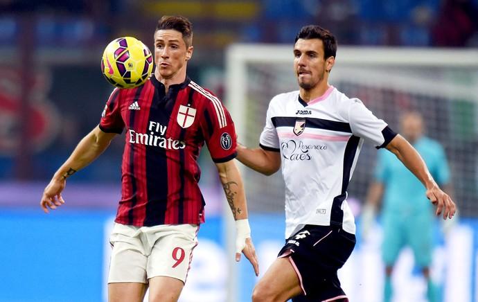 Palermo x Milan - Fernando Torres e Andelkovic (Foto: Getty Images)