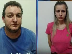 Marcos Roberto Riqueti de Vasconcelos e Amanda Tondati foram presos em flagrante. Rio Preto (Foto: Reprodução/TV TEM)