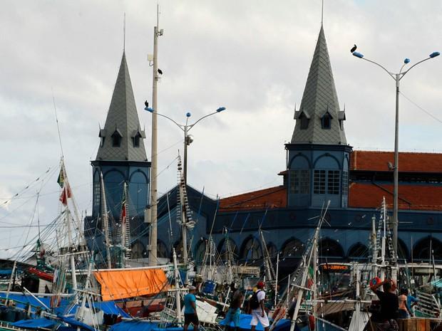 A feira do ver-o-peso é o mercado mais antigo da cidade (Foto: Oswaldo Forte / O Liberal)