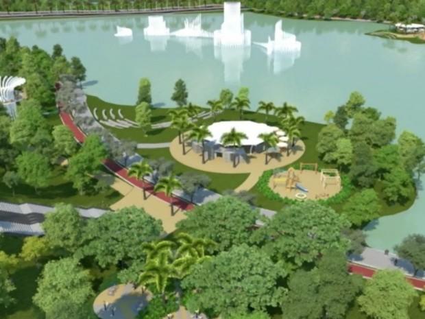 Parque das Águas em Cuiabá (Foto: Divulgação/Prefeitura de Cuiabá)