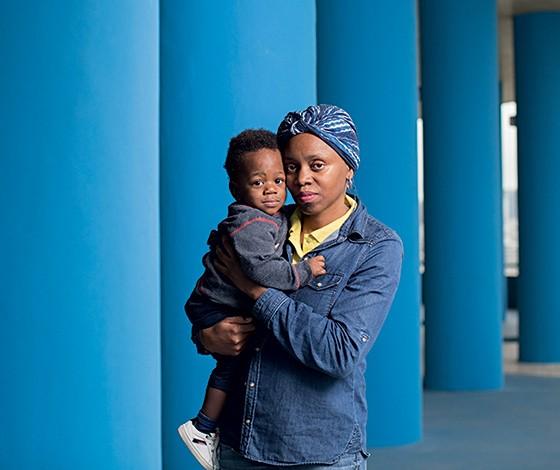 De Angola para o Brasil, para ter um bebê