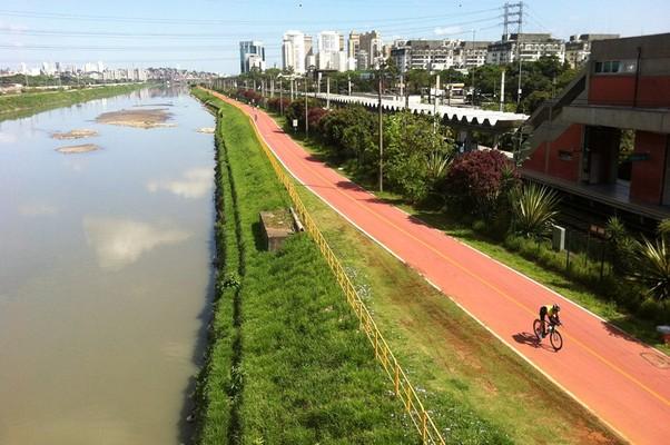 Ri o PInheiros, em São Paulo (Foto: Associação Águas Claras do Rio Pinheiros/Facebook)