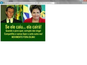 Portal da Prefeitura de Agudos foi invadido por hackers (Foto: Reprodução/Portal Prefeitura de Agudos)