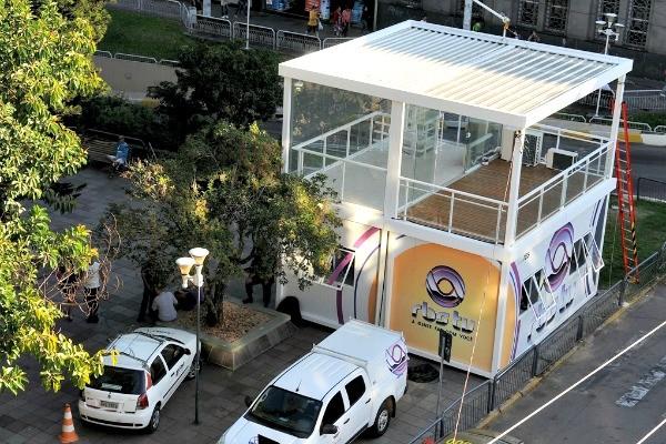 Estúdio de vidro da RBS TV em Santa Maria (Foto: Divulgação/ RBS TV)