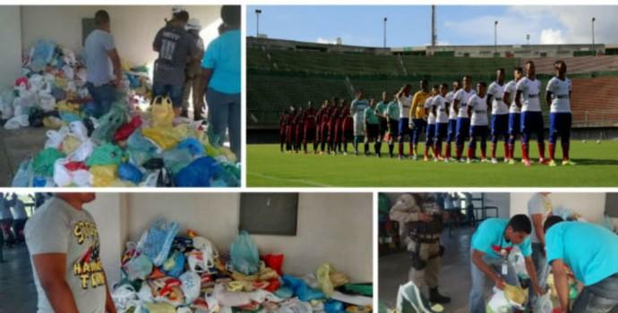 Doação de alimentos do Bahia (Foto: Divulgação / EC Bahia)