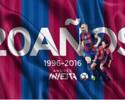 Ídolo, campeão e referência: meia Iniesta comemora 20 anos de Barcelona