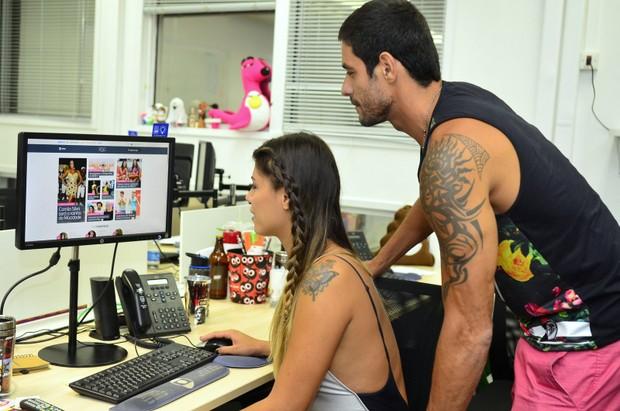Fran e Diego  (Foto: Roberto Teixeira / Ego)