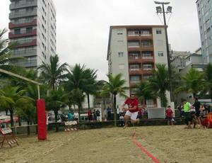 Atletas disputam o 2º Beach Rugby  (Foto: Alexandre Valdívia / Globoesporte.com)