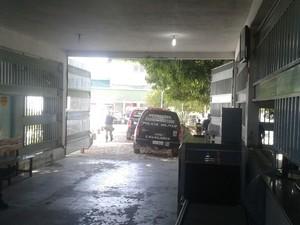 Tropa de choque foi acionada para controlar a rebelião em Teresina (Foto: Gustavo Almeida/ G1)