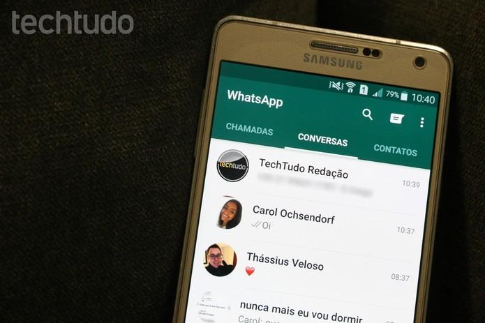 Veja como acessar suas mensagens do WhatsApp em dois celulares ao mesmo tempo (Foto: Carolina Ochsendorf/TechTudo)