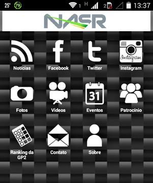 """Felipe Nasr lança """"app"""" para dispositivos com sistema """"Android"""" (Foto: Reprodução/GooglePlay)"""