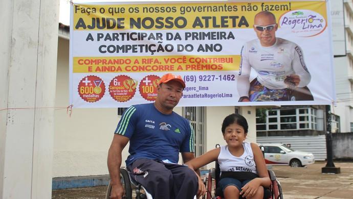 Campanha para o paratleta Rogério Lima (Foto: Daniele Lira)