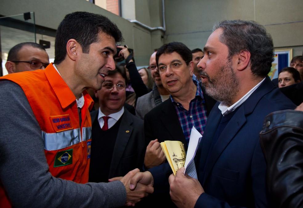 Encontro do vice prefeito Gustavo Paim com o Ministro da Integração Nacional Helder Barbalho (Foto: Cesar Lopes/ PMPA)
