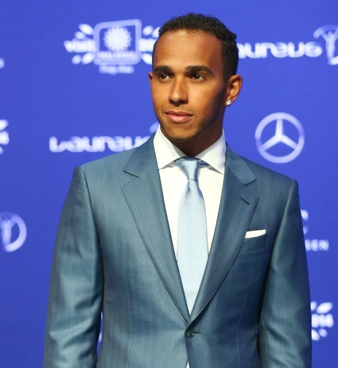 Hamilton no Prêmio Laureus de 2014 (Foto: Getty Images)
